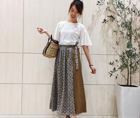 【NEW】ペイズリーバイカラースカート