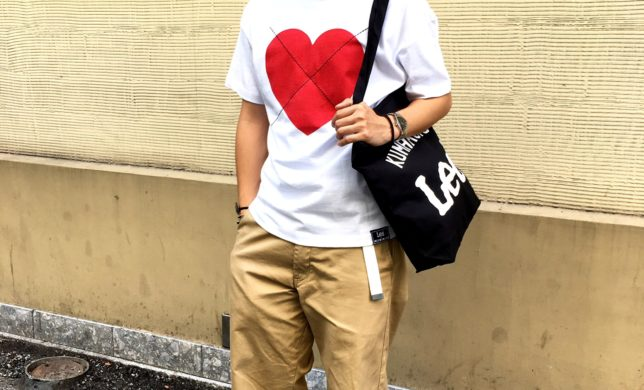 熊本店の 「ゴトーチトートバック」とLee✖️HOUSE OF HOLLAND Ladys HART T-SHIRTSでCoordinate