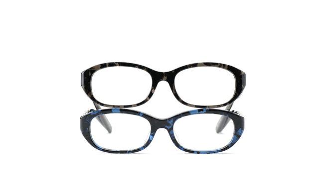 バラフ模様に練りこまれたもの 金子眼鏡 「KB-04」