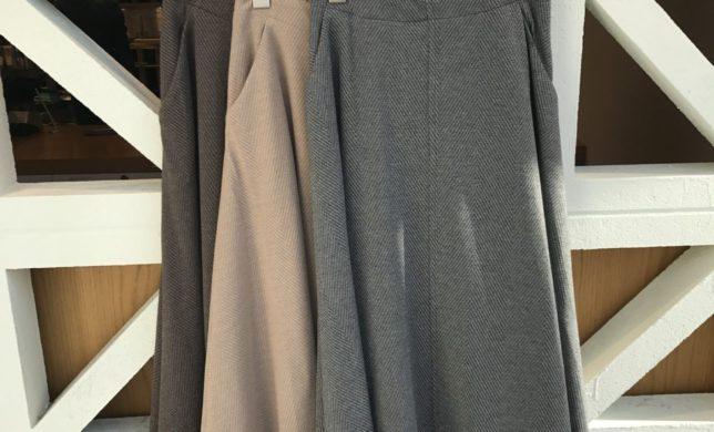 womens  新作ヘリンボーンボリュームスカート