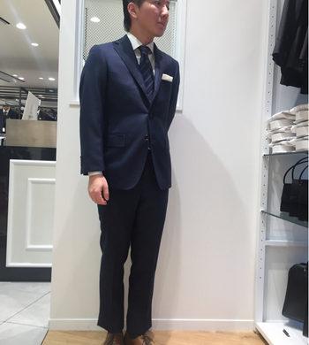 チェック柄ツーパンツスーツ