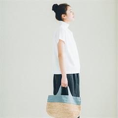【新商品】ラフィアとリネンのバッグ