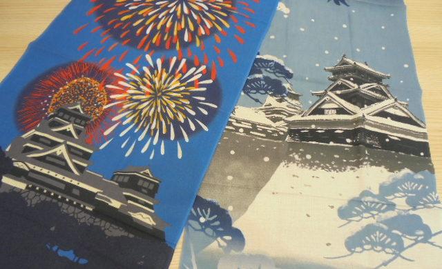 熊本城絵てぬぐい夏柄・冬柄 入荷しました!!