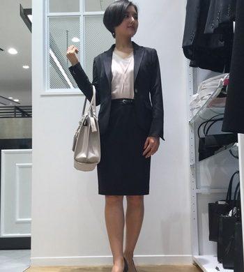 レディース☆ウォッシャブル無地スーツ