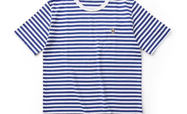 【父の日ギフト】鹿の刺繍ボーダーTシャツ メンズ