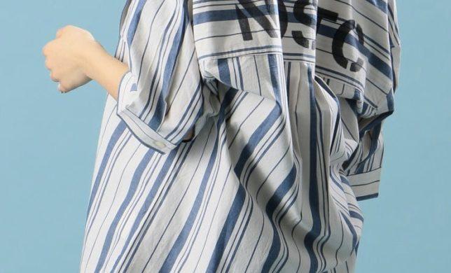 肌寒い朝晩におすすめの爽やかシャツ!