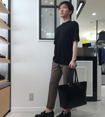 コットン×リネンのクルーネックTシャツが登場!!
