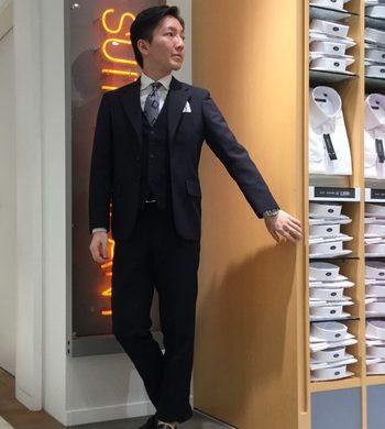 セール対象★ウォッシャブル3Pスーツ