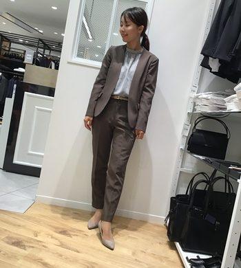 こっくりとした色合い♡新作ブラウンスーツ