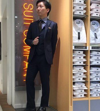 ビジネス兼フォーマルを実現した3Pスーツ★