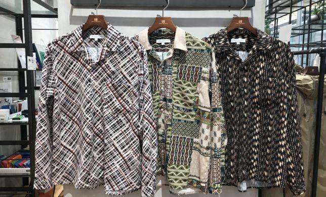 パターンオープンカラーシャツ