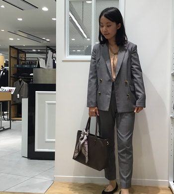☆レディス 新作スーツ♡グレンチェックダブルジャケット