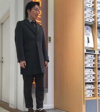 メンズコート★シンプルなウールチェスターコート