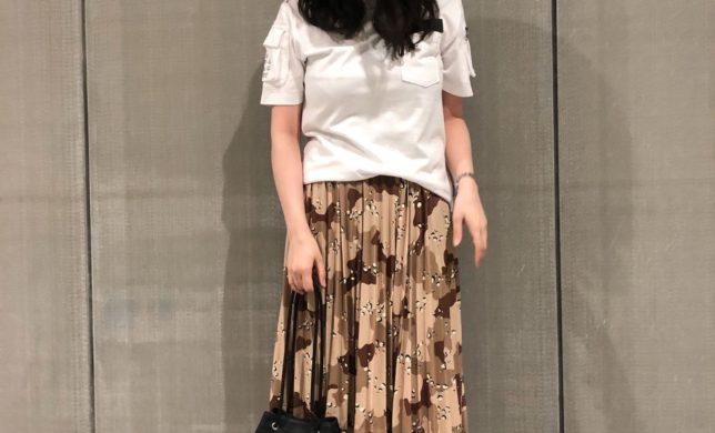 秋冬新作のカモフラージュ 柄スカート!