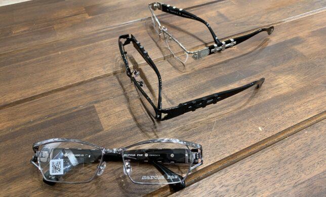 シルバージュエリーのようなメガネ